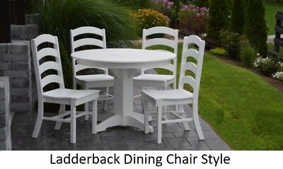 A&L Furniture Co. Amish-Made Poly 5pc Dining Set - Table & Ladderback Chairs