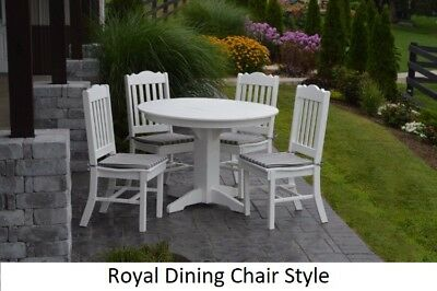 A&L Furniture Co. Amish-Made Poly 5pc Dining Set - Table & Royal Chairs