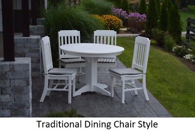 A&L Furniture Co. Amish-Made Poly 5pc Dining Set - Table & Traditional Chairs