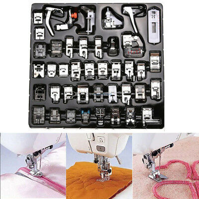 1set 42pcs Presser Foot Feet For Brother Singer Domestic Sewing Machine Part