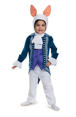 Alice Through the Looking Glass White Rabbit Toddler Child Deluxe Costume Disney