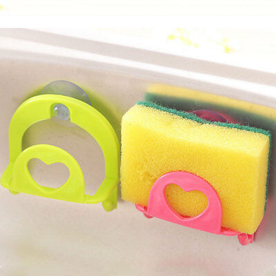Cute Sponge Holder Suction Cup Convenient Hook Kitchen Holder Tools Gadget Decor