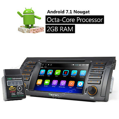 For BMW X5 E53 2002 OBD2 Android 7.1 8Core Car DVD GPS Navigation System 2GB RAM