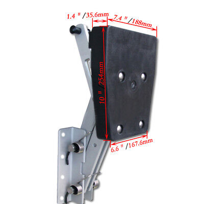 1 Piece Heavy Duty Aluminum Outboard2 Stroke Kicker Motor Bracket 7.5hp-20hp