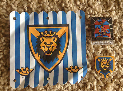 Lego  Castle Kingdom Cloth Royal Lion Flag King Leo Parts Stained Glass Lot 6098