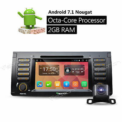 """Octa Core For BMW X5 E53 2000 2001 7""""Android 7.1 Car Stereo Radio DVD GPS+Camera"""