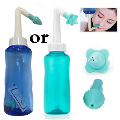 300ml Nasal Wash Neti Pot Nose Cleaner Bottle Nose Irrigator Saline Allergic