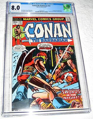 Conan the Barbarian #23 CGC 8.0 1st appearance of Red Sonja Marvel 1973
