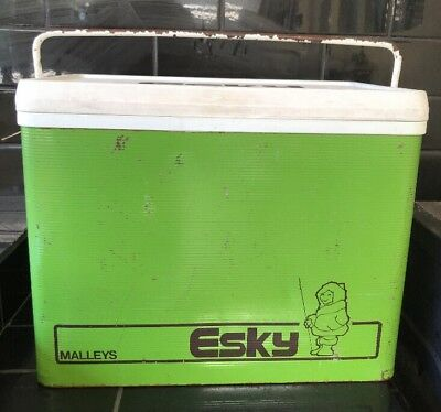 Malleys Vintage Retro Green 1960's Esky Portable Ice Picnic Cooler