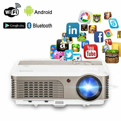 4200LMS HD Smart Android WiFi Projector Bluetooth Home Theater HDMI USB 1080p AU