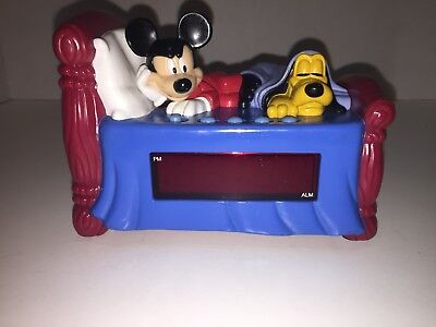 Vintage Disney's collectable Mickey Mouse & Pluto Digital Alarm Clock
