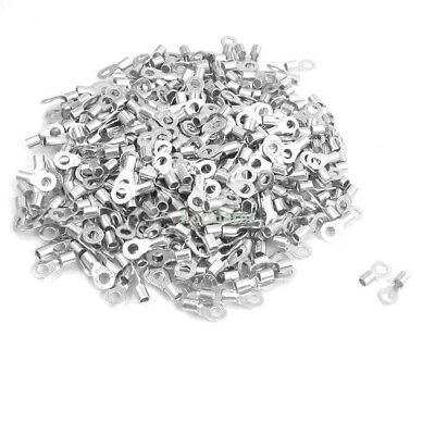 1000 Pcs RNB3.5-4 14-12 AWG Non-insulated Ring Terminals Connector 3.1mm x 4.6mm