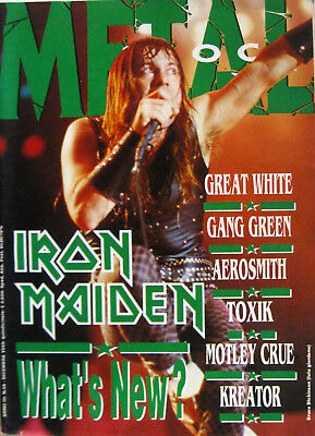METAL SHOCK 58 1989 Iron Maiden Great White Gang Green Tommy Bolin Wrest