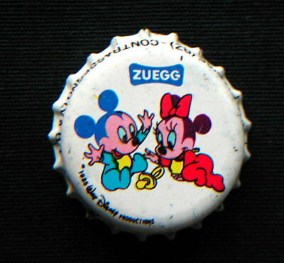 1970s Italy rare DISNEY MICKEY BABY & MINNIE MOUSE BABY bottle cap crown Zuegg