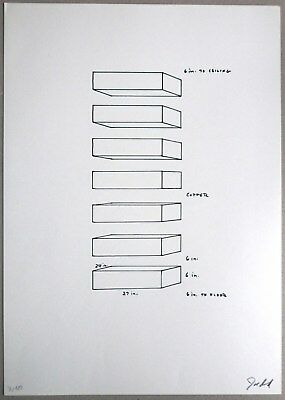 """Donald Judd, """"Untitled 1969"""", Lithographie"""