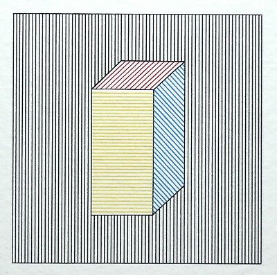 """Sol Lewitt, """"Twelve Forms derived from a Cube, Plate #27"""", signierter Siebdruck"""