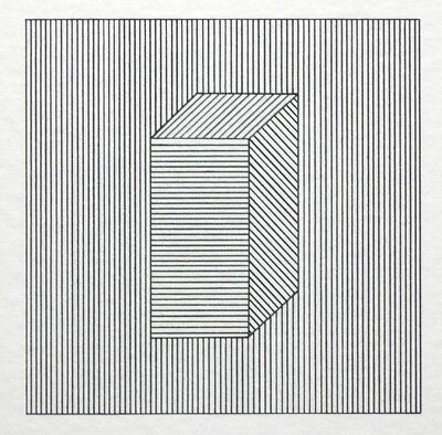 """Sol Lewitt, """"Twelve Forms derived from a Cube, Plate #28"""", signierter Siebdruck"""