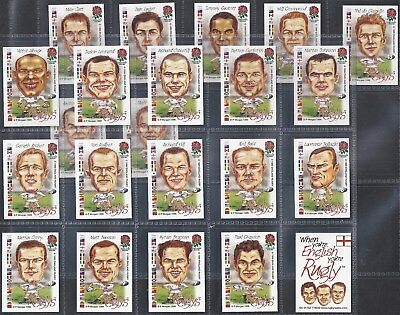 Ruglys-Full Set- English World Cup Rugby Squad (K22 Cards) - Exc
