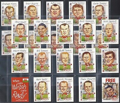 Ruglys-Full Set- Welsh Rugby World Cup Squad (K22 Cards) - Exc