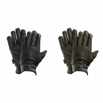 FLOSO Mens Thinsulate Lined Genuine Leather Casual Fashion Gloves (3M (GL104)