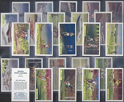 Sweetule-Full Set- Famous Sports Records - Don Bradman (25 Cards) - Exc+++