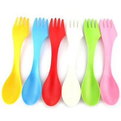 6pcs Baby Fork Spoon Knife Set Kids Children Toddlers Cutlery Feeding Tool