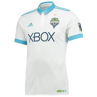 Seattle Sounders Authentic Football Away Shirt 2017/18 Mens adidas