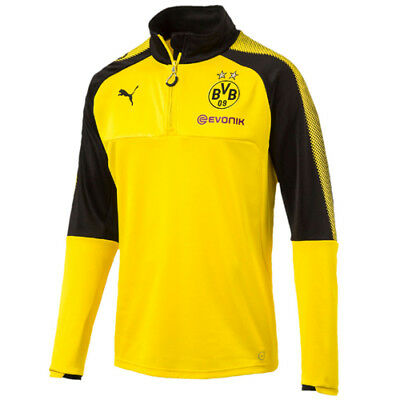 Puma Borussia Dortmund Mens Football 1/4 Zip Training Top Yellow 751777 01 UA22