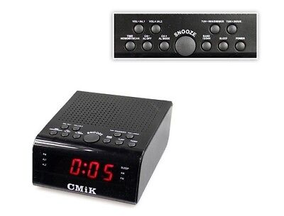 Radio Sveglia Digitale Funzione Am/fm Orologio Display Led