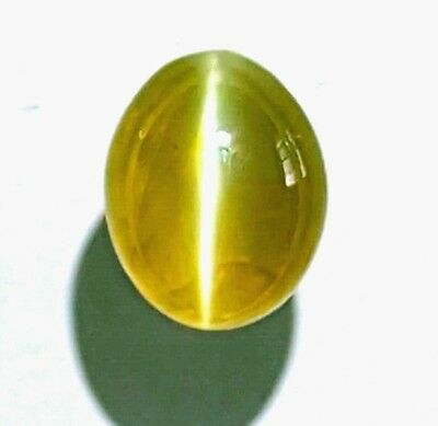 3.81ct GIA Certified true Milk Honey Cats Eye Chrysoberyl -see video