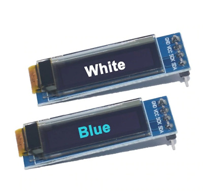"128X32 OLED LCD Display Module Arduino 0.91"" I2C IIC Serial Blue/White"