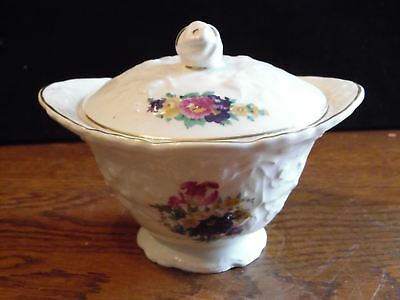 Vintage Rose Point STB233 by Steubenville Floral Sugar Bowl With Lid