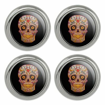 Skull Day of the Dead Southwestern Metal Craft Sewing Novelty Buttons - Set of 4