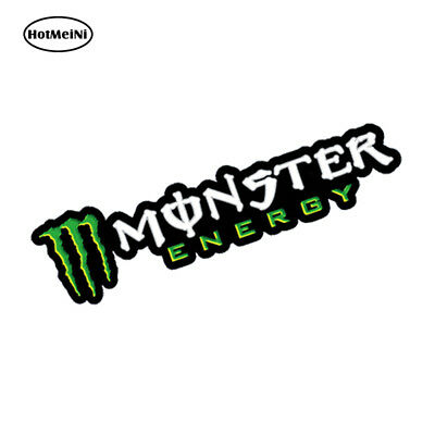 Adesivo Monster Energy moto scooter cross scritta bianca Casco Moto gp SUV Auto