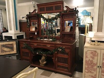 Antique/Vintage Oak English Sideboard Bar Buffet