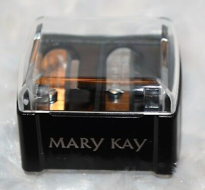 Mary Kay Black Pencil Sharpener Dual Two Holes Different Sizes NEW