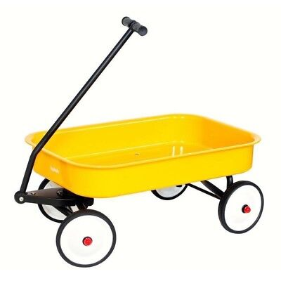 Hip Kids Yellow Metal Toy Wagon Retro Steel Outdoor Backyard Play Children