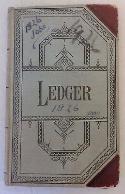Vintage 1926 Ledger Job Record Book Fur Coat Repair? Business NY