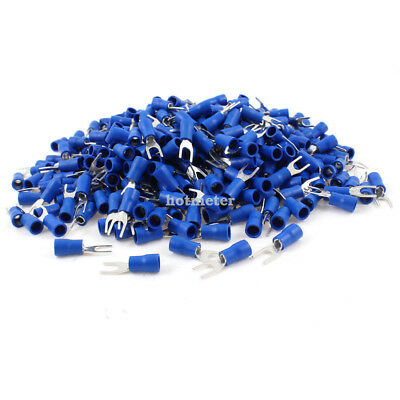 1000 Pcs SV2-4S Blue Pre Insulated Fork Terminals for A.W.G 16-14 Wire 27A 4.3mm