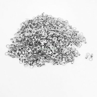 500Pcs RNB5.5-5 Ring Tongue Type Non Insulated Terminals for AWG 12-10 5.3x8.5mm