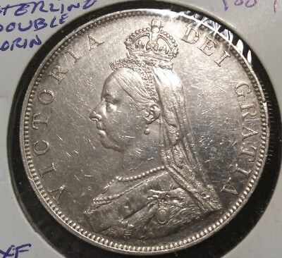 1887 Gt. Britain Scarce Sterling Double Florin Victoria Queen
