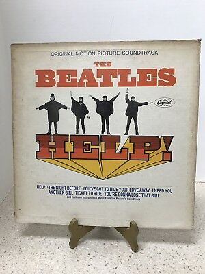 """THE BEATLES """"HELP"""" 1965 CAPITOL MAS-2386 First MONO PRESSING W/KEN THORNE LABELS"""
