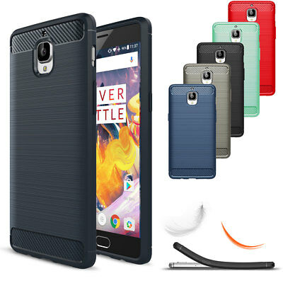 premium selection e9f6f 755aa FOR ONEPLUS 3 / 3T Shockproof Silicone Brushed Rugged Defender Hard Case  Cover