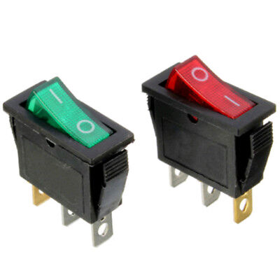 12V On/Off Large Rectangle Rocker Switch LED Lighted Car Dash Boats 3-Pin SPST