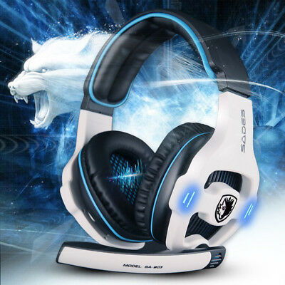 Sades SA903 7.1 Surround Sound USB Gaming Headset with Mic Voice Control for PC