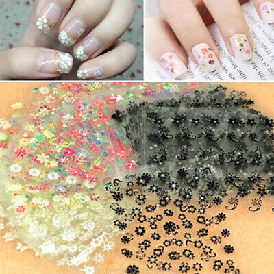 30 Sheets Nail Art Transfer Stickers 3D Design Manicure Tips Decal Decorations