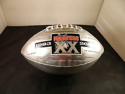 Hooters 20th Anniversary Silver Football -VG/E - 1983-2003 Timeline -Ships free!