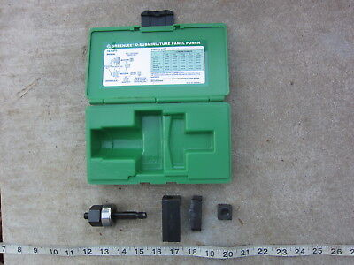 Greenlee RS232 25-Pin D-Subminiature Panel Punch, Used