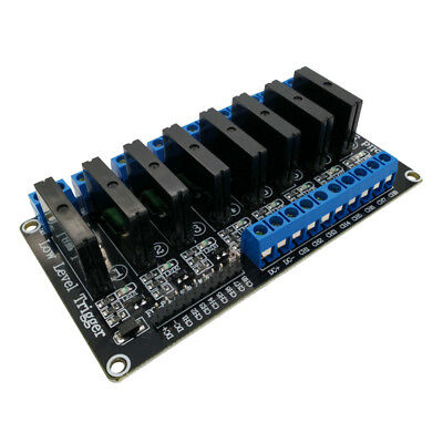 24V 8 Channel Low Level Trigger Solid State Relay Module 240V 2A Output