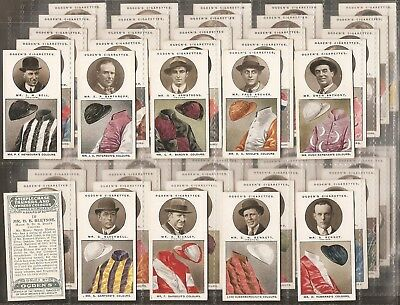 Ogdens-Full Set- Steeplechase Trainers & Owners Colours (50 Cards) - Exc